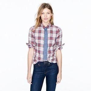 Jcrew Plaid The Perfect Shirt Tartan Button Up